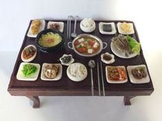 Korean Breakfast Miniature by Allminis
