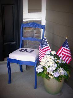 Americana Decor -The blue chair
