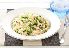 Pea and Crab Risotto recipe - Easy Countdown Recipes Quick Risotto Recipe, Risotto Recipes, Pasta Recipes, Dinner Recipes, Cooking Recipes, Veggie Recipes, Seafood Recipes, Healthy Recipes, Free Recipes