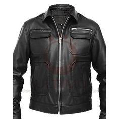 4da8b1728a9 Apollo Bomber Heavy Duty Black Men s Slim Fit Leather Jacket Best Leather  Jackets
