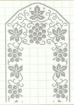 Crochet Table Runner, Crochet Tablecloth, Filet Crochet Charts, Fillet Crochet, Crochet Lace, Grape Vines, Hand Weaving, Projects To Try, Crochet Patterns