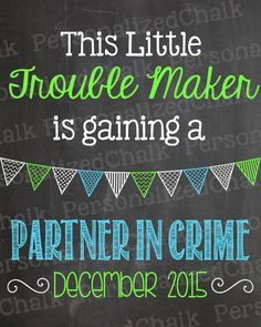 This Little Trouble Maker is Gaining a by PersonalizedChalk, $8.00