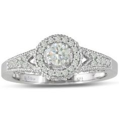 6 ct antique style engagement wedding ring | Antique Style 1/2ct...