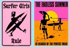 surfer girl tin signs fun wall decorations beach theme bedrooms