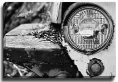 Vintage Truck BW by Lisa Russo Photographic Print on Canvas
