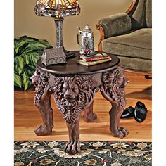 Lord Raffles Lion Leg End Table