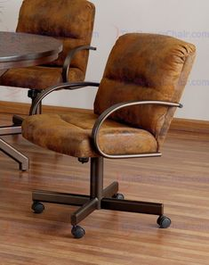 55 Dining Chairs Casters Swivel Modern Used Furniture Check