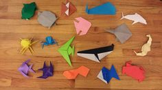 ChemKnits: Origami Sea Creatures - Adventures of a Knitter trying to Fold Paper