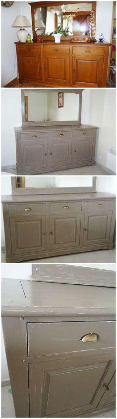 buffet relook patine shabby meubles relook s par blanc d 39 ouest pinterest buffet de f te. Black Bedroom Furniture Sets. Home Design Ideas