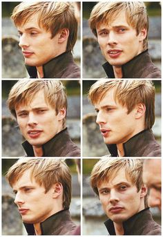"""His eyebrows.  They're so expressive.  Like little furry caterpillars dancing around with his moods.""  Savannah wiggled her fingers and laughed.  ""Don't lie.  You know I'm right."" (Bradley James)"