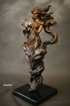 "mignonne-allons-voir-si-la-rose: "" ""Visions"" bronze sculpture by Gaylord Ho "" Abstract Sculpture, Wood Sculpture, Metal Sculptures, Art Nouveau, Style Floral, Oeuvre D'art, Amazing Art, Sculpting, Art Photography"
