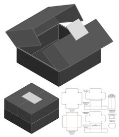 Box Packaging Die Cut Template Discover thousands of Premium vectors available in AI and EPS formats Box Packaging Templates, Packaging Dielines, Packaging Design Box, Package Design, Perfume Packaging, Luxury Packaging, Diy Gift Box, Diy Box, Paper Box Template