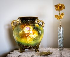 Favorite antique Vase which was from her mother