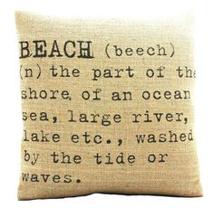 Beach Pillow Cover by Betsy Jarvis.