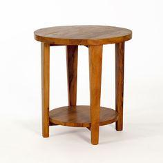 mesa lateral redonda pés em V