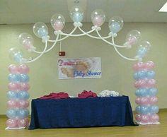 Arco baby shower globo