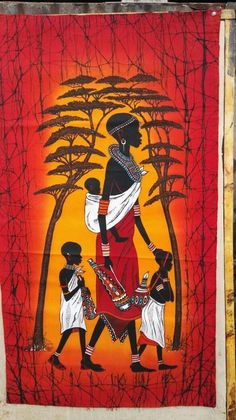 African Candle Wax Batik We make unique authentic African candle wax batiks that you can browse from the comfort of your home. African candle wax batiks are suc African Wall Art, African Art Paintings, African Artwork, African Drawings, African Prints, Art Mural Africain, African Colors, African Style, Afrique Art