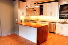 Waterfall Kitchen Countertop by Treeline Woodworks®