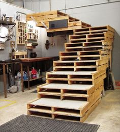 Pallet Basement Stairs!