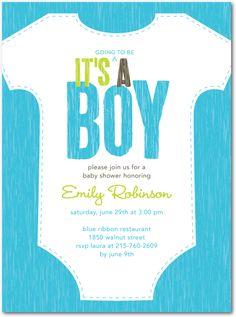 Cute Baby Boy Announcement ~ Baby Shower Invite