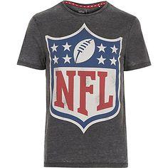 Grey NFL logo print t-shirt £20.00
