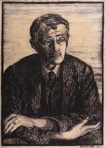 John Edward Masefield (1 juni 1878 – 12 mei 1967) - Portret door Rudolph Sauter, 1923