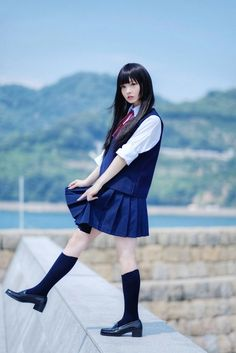 I m comin 4 u so don't School Girl Japan, School Girl Outfit, School Uniform Girls, Girls Uniforms, Japan Girl, School Uniforms, Cute Kawaii Girl, Cute Girl Pic, Cute Girl Outfits