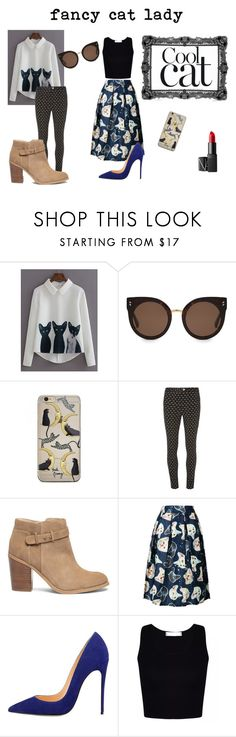 """""""fancy cat lady"""" by some-bones-are-humerus on Polyvore featuring WithChic, STELLA McCARTNEY, Dorothy Perkins, Sole Society and NARS Cosmetics"""