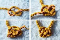 Voici comment réaliser un collier tricotin.