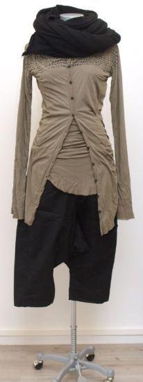 rundholz dip - Hose 7/8 Cotton Stretch black - Winter 2015 - stilecht - mode für frauen mit format...