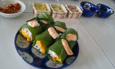 Delicious spring rolls, a typically Vietnamese dish.