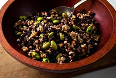 Black Rice and Red Lentil Salad -