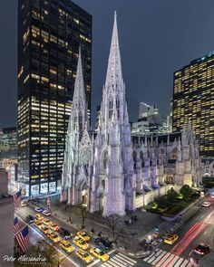 CityScapes ©: Saint Patrick's Cathedral; Manhattan, New York City [by Peter Alessandria]. Mykonos, Santorini, Cathedral City, Washington Square Park, New York City Travel, City Buildings, Brooklyn Bridge, Empire State Building, Travel Usa