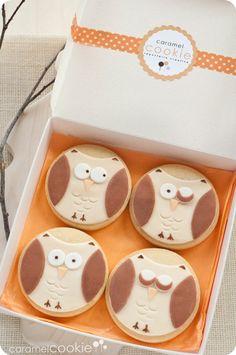 Owl cookies | Caramel Cookie