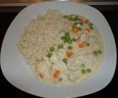 Hühnerfrikassee mit Reis (All-in-one) schnell & lecker