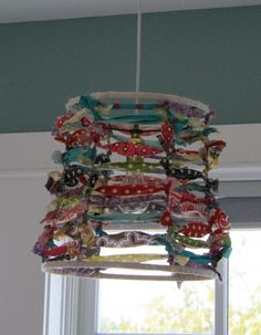 49 Ideas diy lamp shade ribbon fabric scraps for 2019 Fabric Lampshade, Lampshades, Lampshade Decor, Funky Lamp Shades, Funky Lamps, Abbat Jour, Diy Luminaire, Diy And Crafts, Arts And Crafts