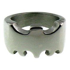 Men's 316L Stainless Steel Rings Batman Sz 3 - 11
