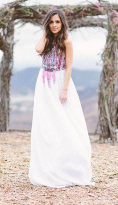 bohemian maxi dress beach dress