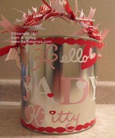 Valentines Card container - for school, gifts, etc