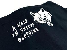 Gaiter wolf mask wolf in sheeps clothing black mask face | Etsy Raven Mask, Crow Mask, Wolf Mask, Wolf Design, Black Mask, Neckerchiefs, Screen Printing, Sweatshirts, Face