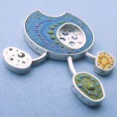 polymer clay, silver,  jewelry