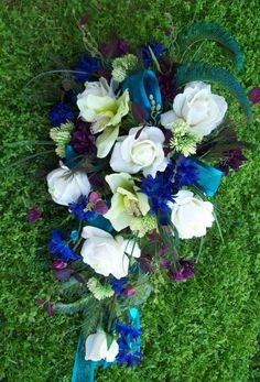 Royal Peacock Wedding Flowers