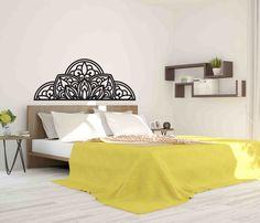 Stencil, Mandala, Bed, Furniture, Home Decor, Bohemia, Decoration Home, Stream Bed, Room Decor