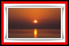 O sol nascendo em Dubai