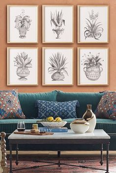 Based on the archives of Dutch botanist and artist Abraham Munting, these striking gray-scale prints depict watercolor illustrations of aloe plants. Each vibrant, giclée rendering of an original 17th century artwork is impeccably printed with archival inks and paper.