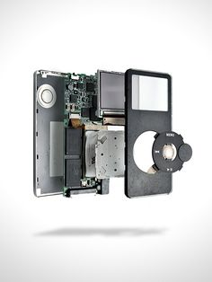 iRepair is a leading provider of iPod replacement parts. See our page for great deals on all your iPod components. Ipod Classic, Classic Cars, Apple Tv, Social Design, Exploded View, Technical Illustration, Technical Drawing, Gadgets, Ipod Nano