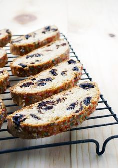 Treat of the Week: Cherry Amaretto Biscotti  01/2017 - Recipe was good but not great.