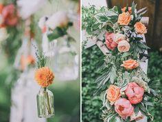hanging floral vases