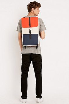 Rains Backpack in Orange, Sand and Blue - Urban Outfitters