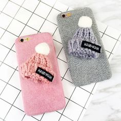 DIY Cute Hat Fuzzy Plush Winter Soft TPU Phone Back Cover Cases For iPhone 7 For iPhone 6 6S 7 Plus Phone Bags & Case Brand Name:wcl Retail Package:Yes Compatible iPhone Model:iPhone 6s,iphone 7,iPhon